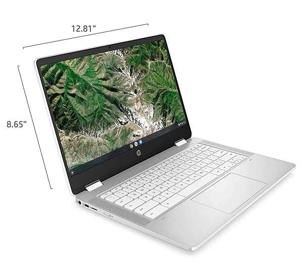 HP Touchscreen Chromebook x360 14a with Tuned Stereo Speakers