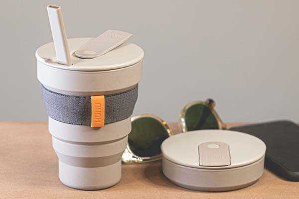 HUNU+ Collapsible Cup with Foldable Straw