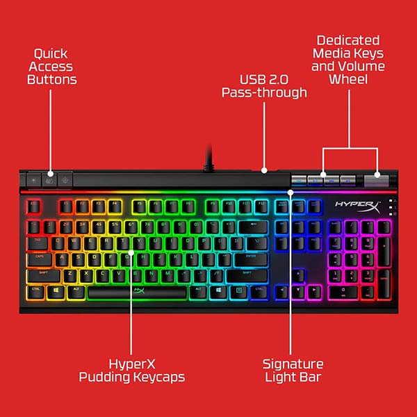 HyperX Alloy Elite 2 Mechanical Gaming Keyboard with Media Keys