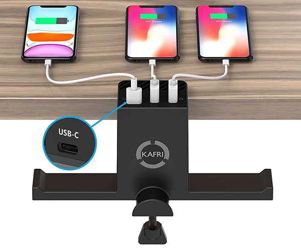 Kafri Dual Headphone Hanger and Charging Station