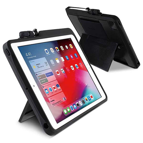 Kensington BlackBelt 2nd Degree Rugged 10.2-Inch iPad Case with Stand, Apple Pencil Holder and More