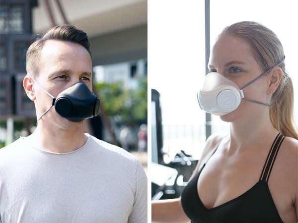 purME Air Breathable and Reusable Face Mask with Twin Turbines and UV-C Light