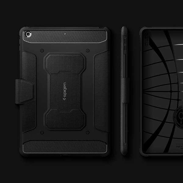 Spigen Rugged Armor Pro 10.2 iPad Case with Apple Pencil Holder