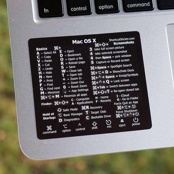 Synerlogic Handmade MacBook Shortcut Vinyl Sticker for Mac OS X
