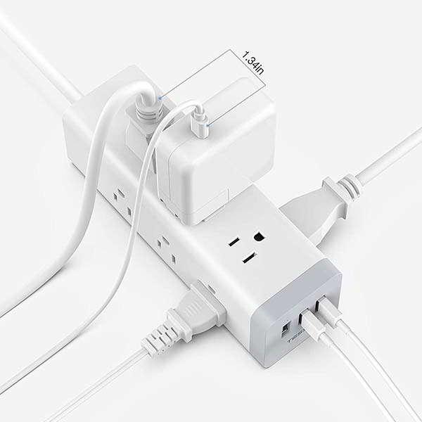 TESSA Long Surge Protector with USB Ports