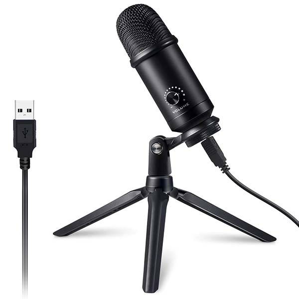 Victure MP30 USB Condenser Microphone with Tripod Stand