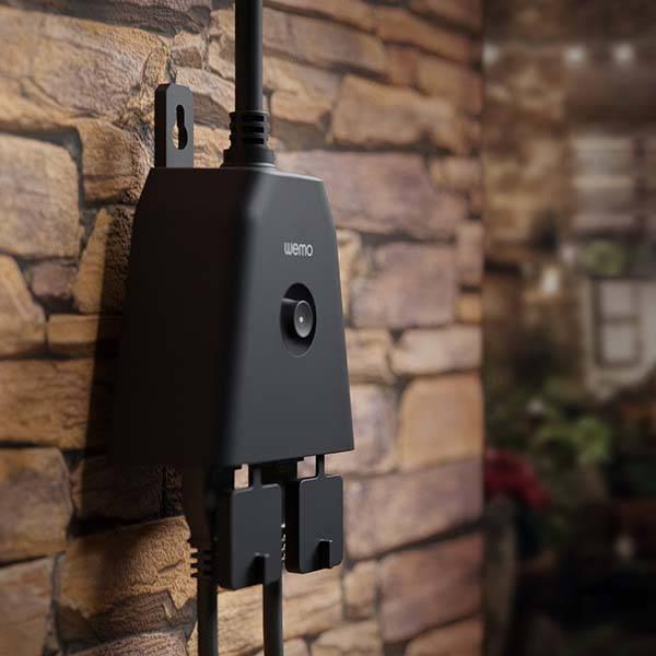WeMo WiFi Smart Outdoor Plug Supports Alexa, Google and HomeKit