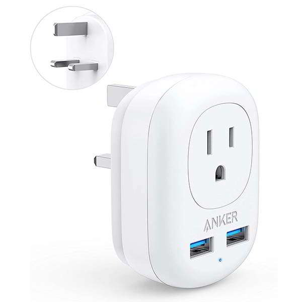 Anker PowerExtend Travel Adapter with USB Ports