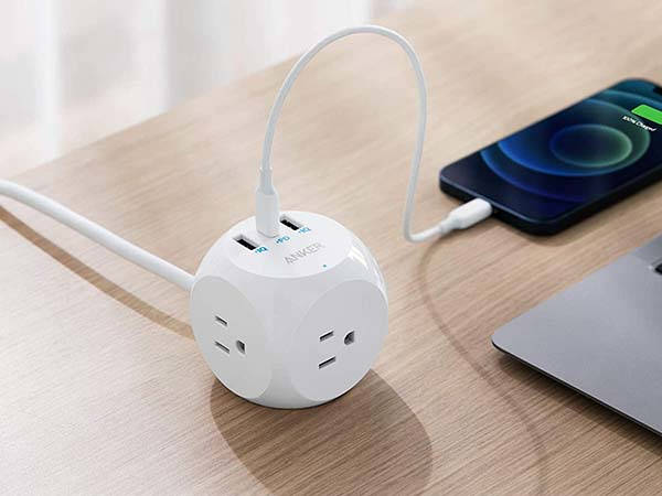 Anker PowerExtend USB-C 3 Cube Compact Power Strip