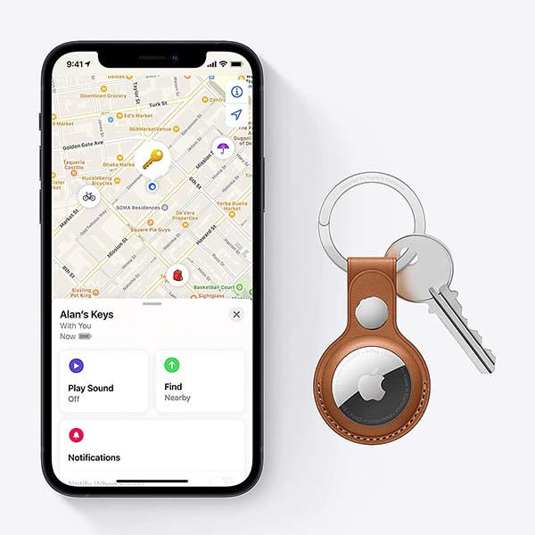 Apple AirTag Bluetooth Tracker with IP67 Water and Dust Resistance