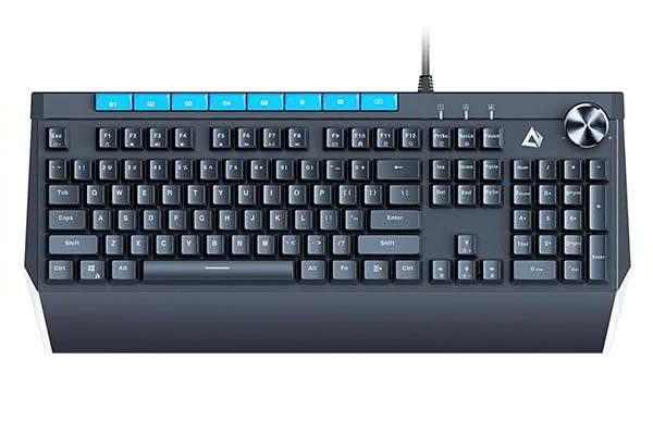 Aukey KM-G17 RGB Mechanical Gaming Keyboard with 5 Macro Keys