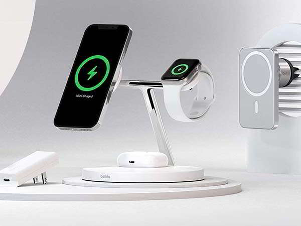 Belkin 3-in-1 MagSafe Wireless Charging Dock for iPhone, Apple Watch and AirPods