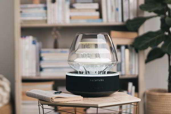 HaloFalls Bluetooth Speaker with Indoor Waterfall and Mood Lamp