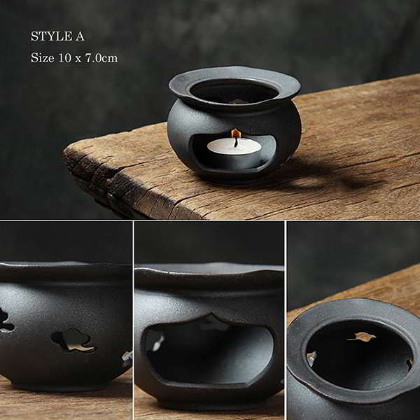 Handmade Ceramic Tea Warmer and Candle Lamp