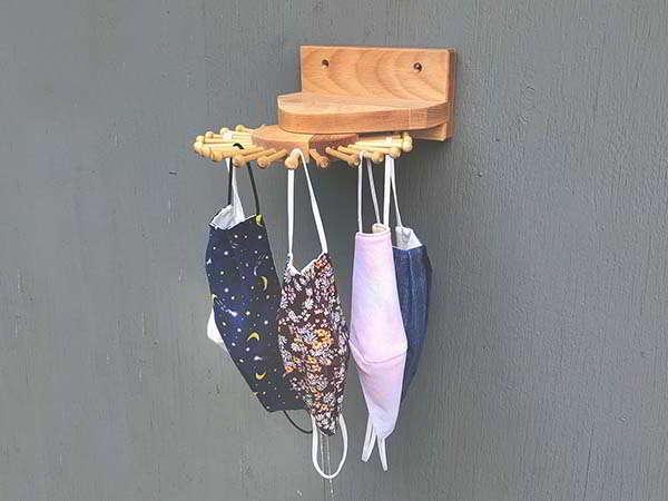 Handmade Hardwood Rotating Tie Rack
