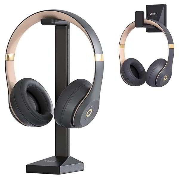 Havit 2-In-1 Aluminum Headphone Stand and Hanger