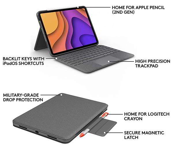 Logitech Folio Touch iPad Air Keyboard Case with Trackpad