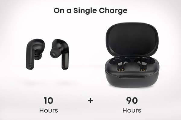 Mobi Hybrid Active Noise Cancelling Wireless Earbuds with 100-Hour Battery Life