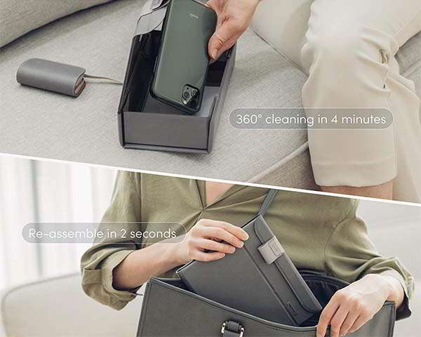 Moshi Deep Purple Portable UV-C Sanitizer with Folding Design