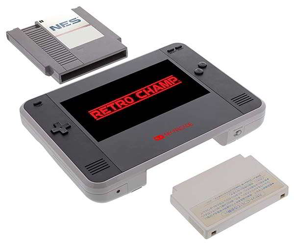 My Arcade Retro Champ Portable Gaming Console Supports NES and Famicom Games