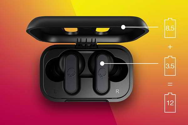 Skullcandy Dime True Wireless Bluetooth Earbuds with IPX4 Water Resistance