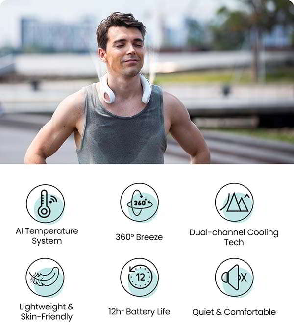 YOSH 360-Degree Smart Neck Fan