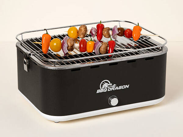 Zephyr Fan-Powered Portable Charcoal Grill