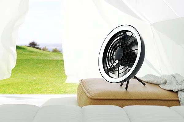Aura Portable Fan with LED Light