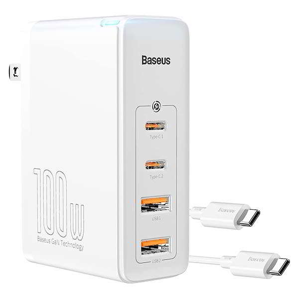 Baseus GaN USB and USB-C Charger with 100W Output