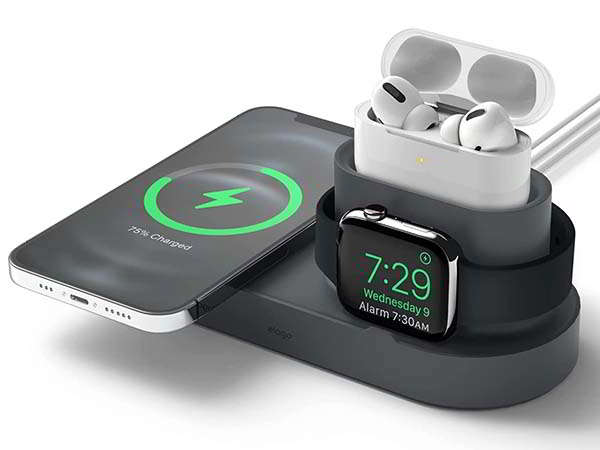 Elago MS Trio 1 Charging Dock Supports MagSafe Charger