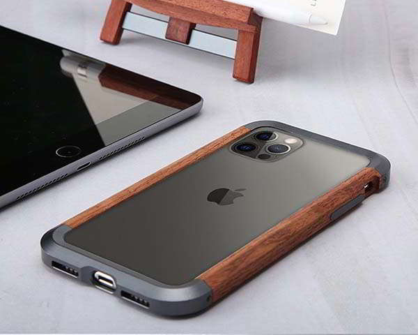 Handmade Metal-Wood iPhone 12 Case