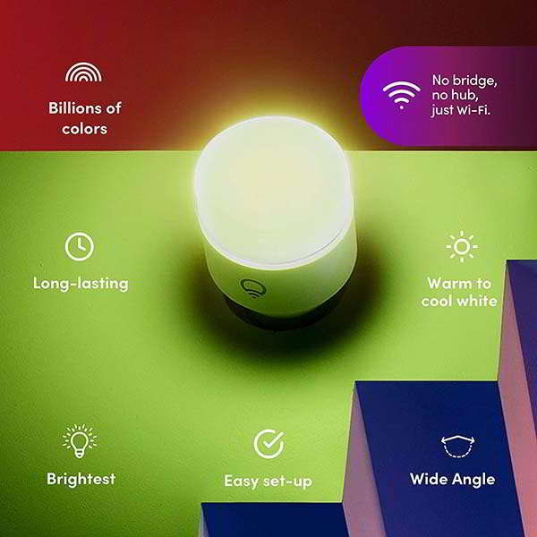 LIFX A19 WiFi Smart LED Bulb Compatible with Alexa, Google Home and HomeKit