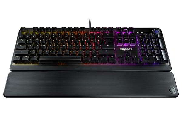 ROCCAT Pyro RGB Mechanical Gaming Keyboard with Detachable Palm Rest