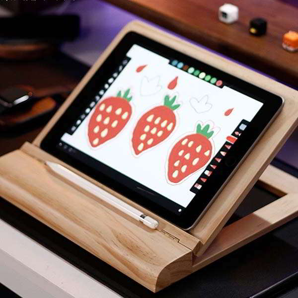 The Handmade Adjustable Wooden Tablet Stand for Drawing