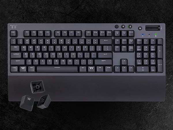 Thermaltake W1 Wireless Gaming Mechanical Keyboard with Bluetooth and 2.4GHz Connection