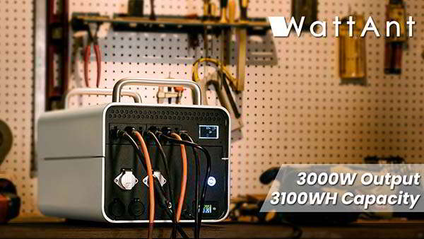 WattAnt Portable Power Station with Swappable Batteries
