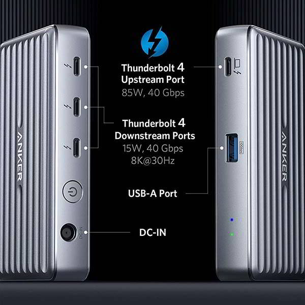 Anker PowerExpand 5-In-1 Thunderbolt 4 Dock with 85W Output