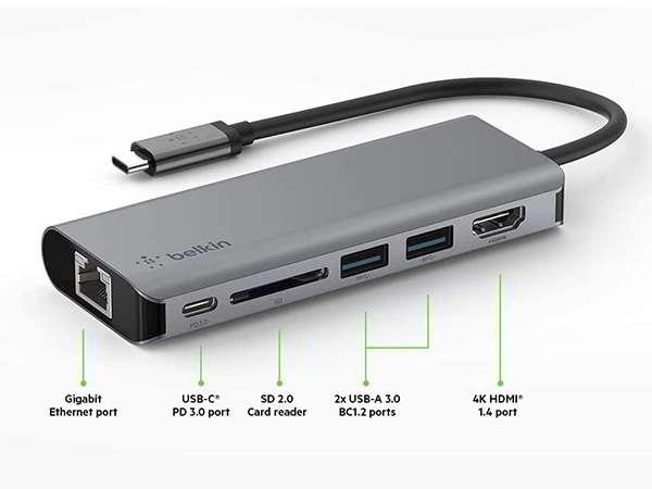 Belkin 6-in-1MultiPort USB-C Hub with 100W PD