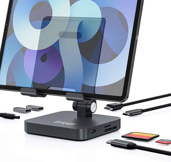 BYEASY iPad Pro Stand with USB-C Dock