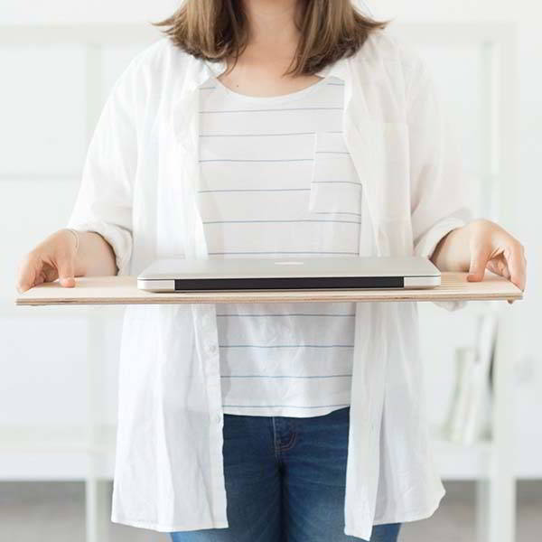 Handmade Minimal Wooden Lap Desk for Laptop