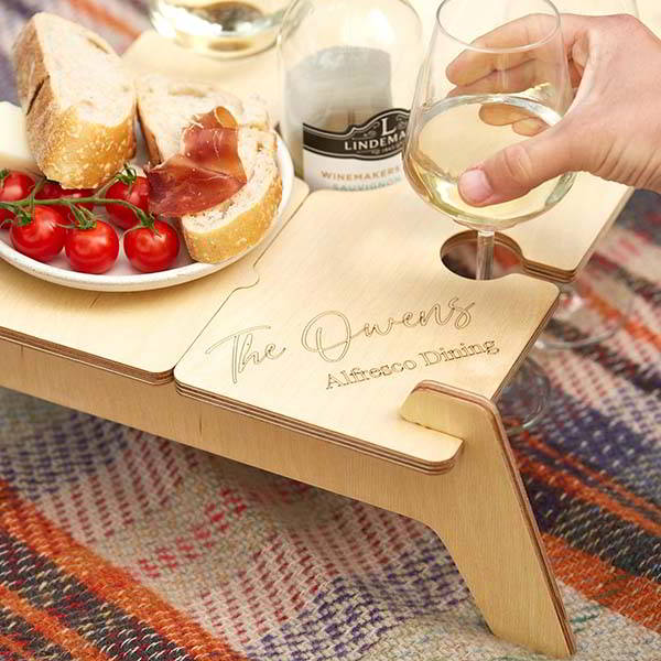 Handmade Personalized Portable Wood Picnic Table