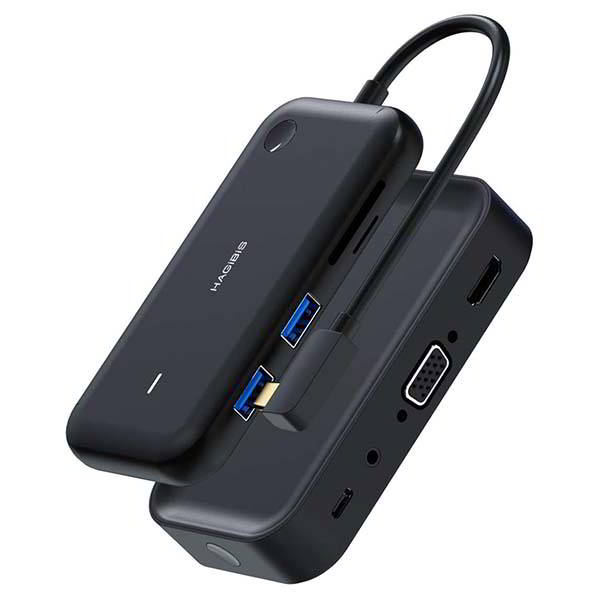 HiCast Wireless Display Adapter with USB-C Hub
