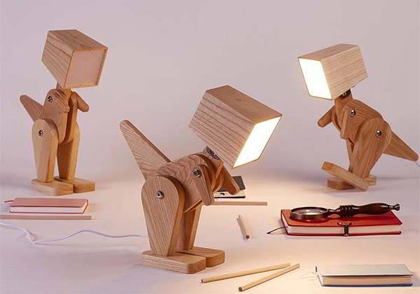 HROOME Dinosaur Wooden LED Table Lamp