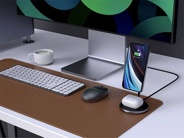 HyperJuice Magnetic Wireless Charging Stand for iPhone 12 and AirPods