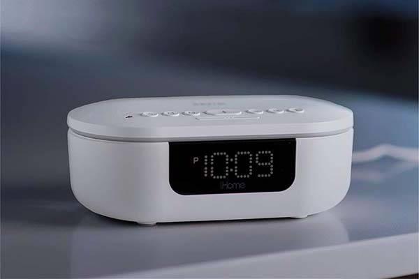 iHome Health PowerUVC Pro UV-C Sanitizer with Bluetooth Speaker and Alarm Clock