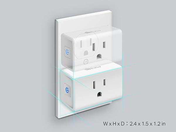 Kasa EP10 Smart WiFi Plug Mini Compatible with Amazon Alexa and Google Home