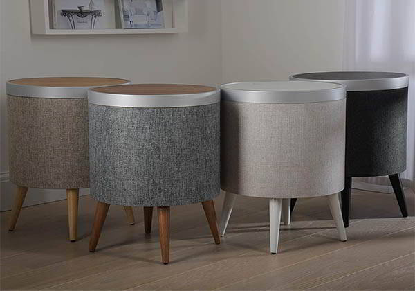 Koble Zain Side Table with Bluetooth Speaker and Subwoofer