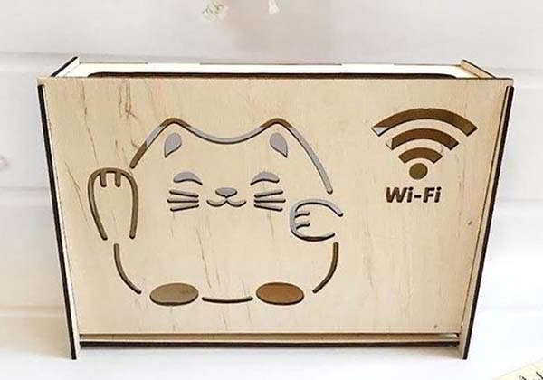 Laser Cut Wall Mounted WiFi Router Box