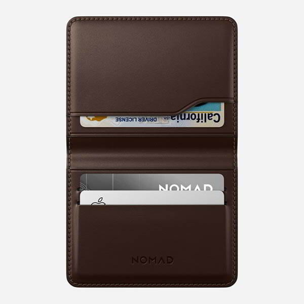 Nomad Horween Leather Card Wallet Plus