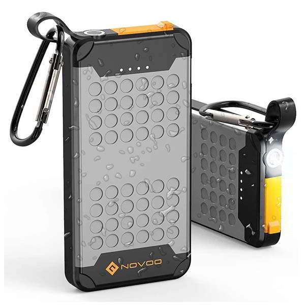 Novoo Waterproof Portable Charger with LED Flashlight and 18W PD